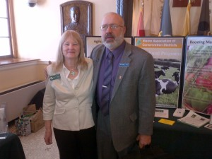 Rosetta Thompson (Franklin SWCD) and Rep. Russell Black (Wilton)